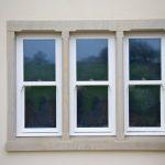 Sandstone Window Surround On Rendered Areas