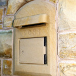 Donegal Sandstone Letter Box Cover With Opening And Locking Door