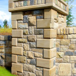 Sawn And Polished Sandstone Quoins And Pillar Coping