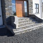 Donegal Slate Risers With Black Limestone Treads