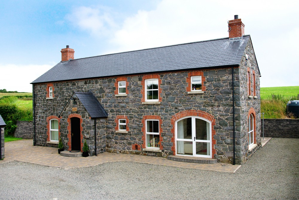 Old Barn Restored, Sandblasted And Repointed. Half Is Original Stone  Restored, Sandblasted And