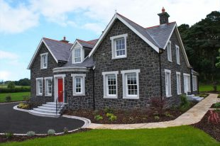 Split Basalt With Reconstituted Granite Window & Door Surrounds