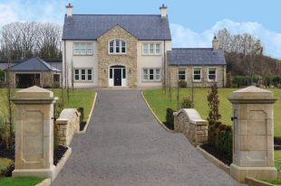 90% Donegal & 10% Omagh Sandstone With Sandstone Window & Door Surrounds
