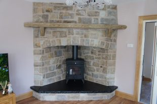 Tipperary Brown Corner Fireplace