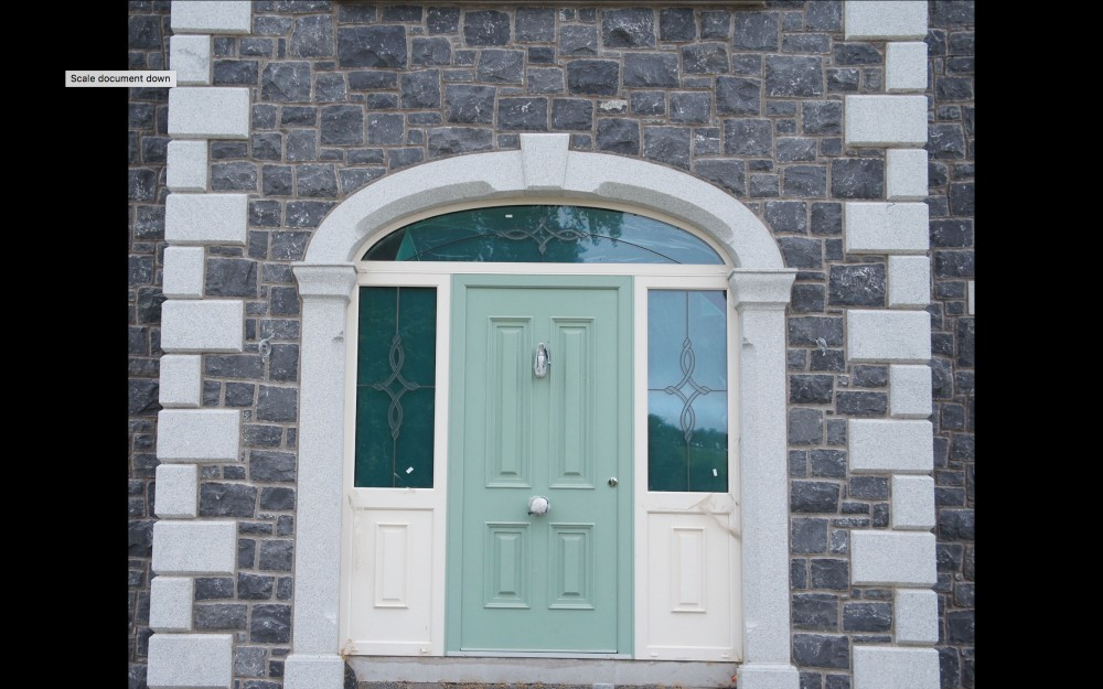 Grey granite door surround & White Limestone with Grey Granite Door Surround - Coolestone Stone ...