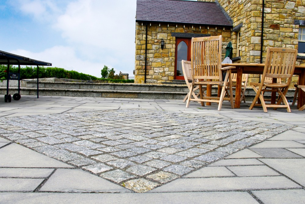 Indian Limestone Paving. Grey Granite Cobbles. Grey Granite Cobbles. Grey  Granite Cobbles