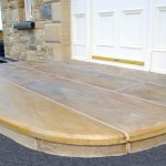 Donegal Sandstone Step With 10mm Chamfer To Tread And Sandstone Riser