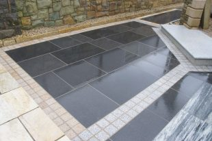 Black Granite Paving