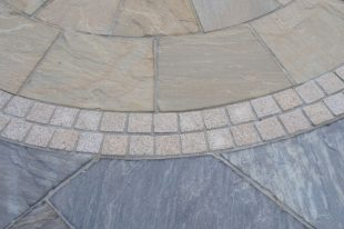 Gold Granite Cobbles Flamed