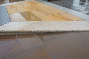 Gold Granite Steps