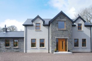 Donegal Slate With Pearl Grey Dash & Brown Windows