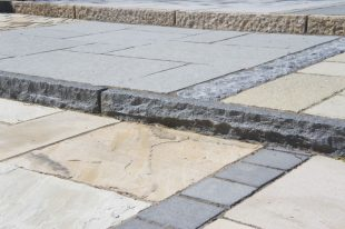 Blue Granite Rock Faced Kerbs