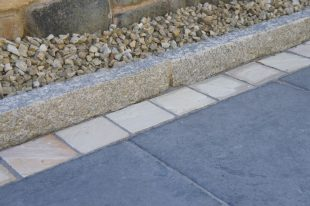 Silver Granite Rock Faced Kerb