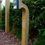 Donegal Sandstone Freestanding Keypad Holder Brush Hammered On Two Sides