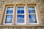 Brush Hammered Sandstone Window Surround