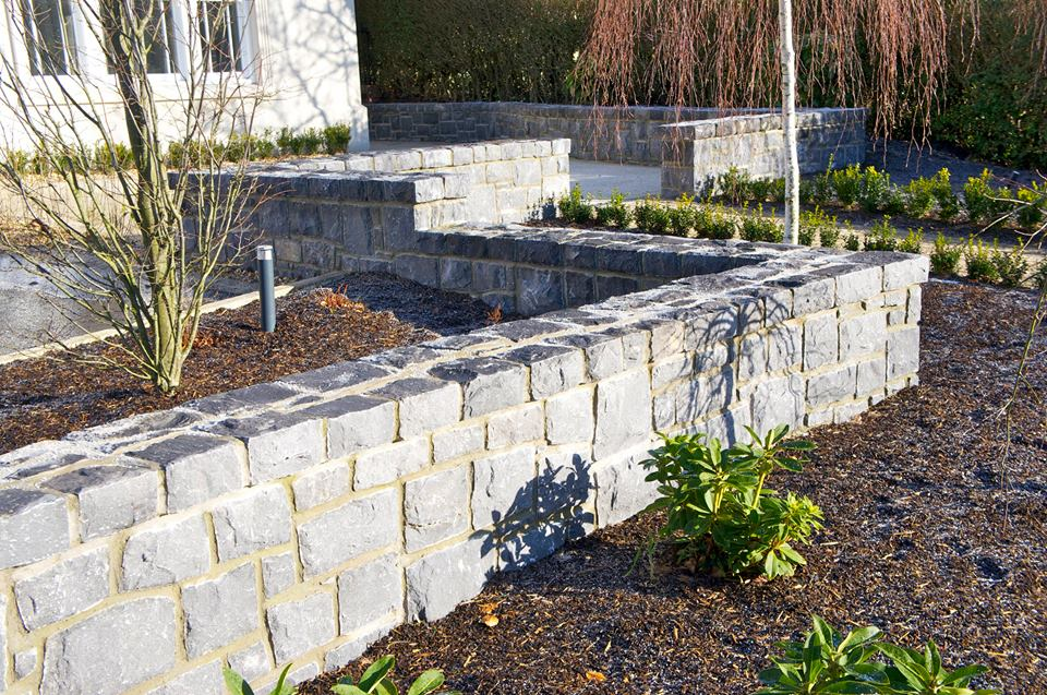 White Limestone wall