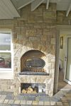 External Fireplace With Log Holder