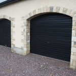 Stone Detail Around Garage Doors