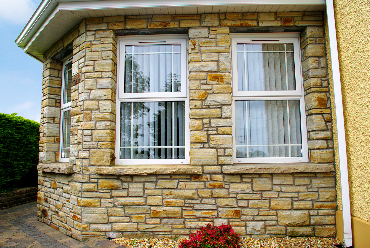 Sandstone Hearths Cut into Window Cills, Stone built on keystone lintel