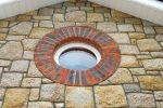 Round Window With Brick Detail