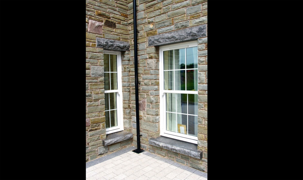 Rock faced Limestone Cills & Rock faced limestone lintels