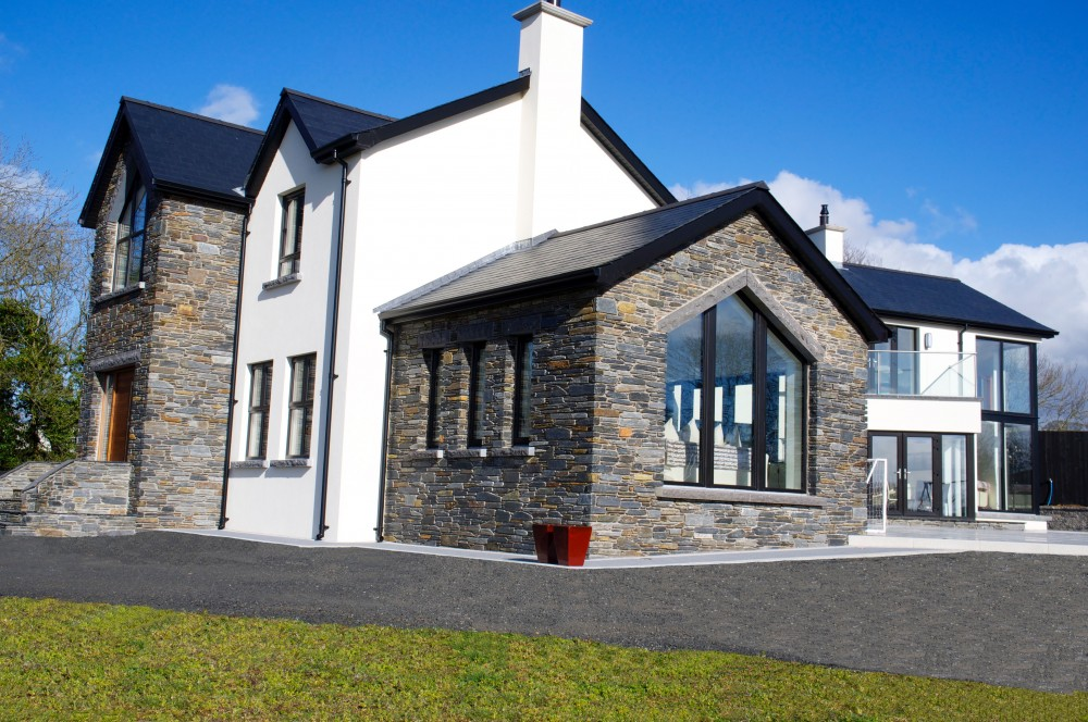 Donegal Slate complimented with K rend finish to walls