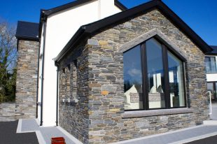 Donegal Slate With Rock Faced Limestone Window Cills & Apex Rock Faced Limestone Lintel