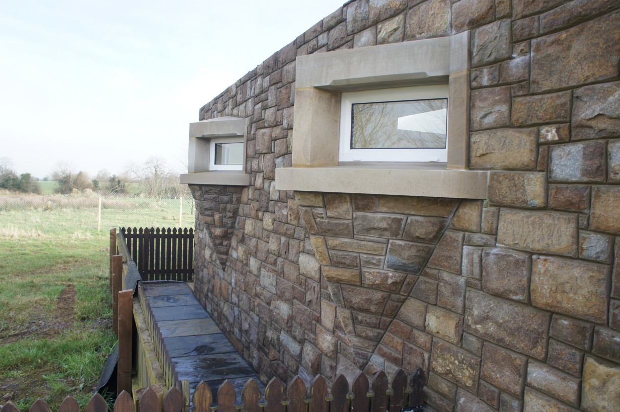 Projecting window detail with Donegal sandstone surrounds