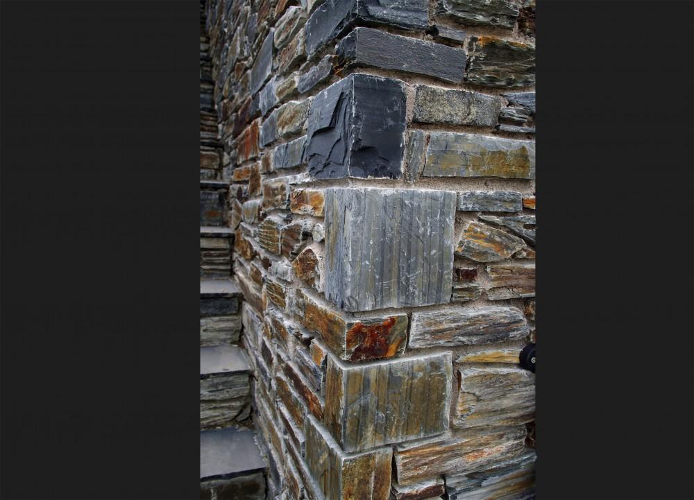 Donegal slate quoins. Provides a sharp, crisp finish
