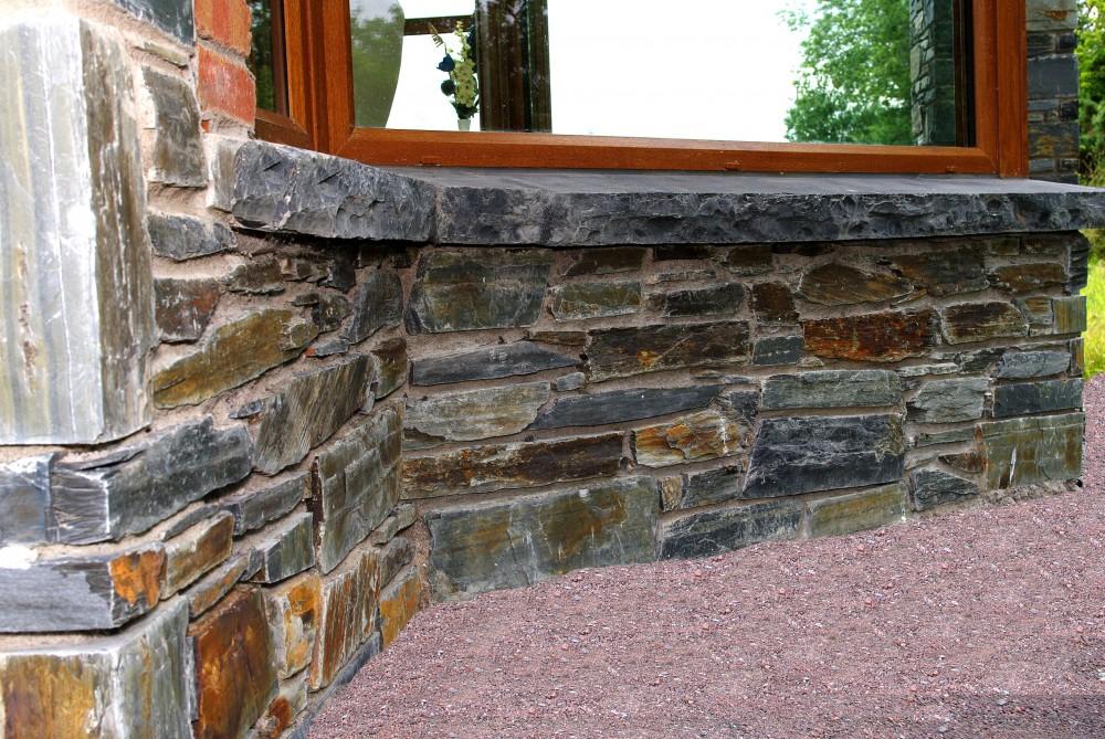 Limestone hearths cut into window cills