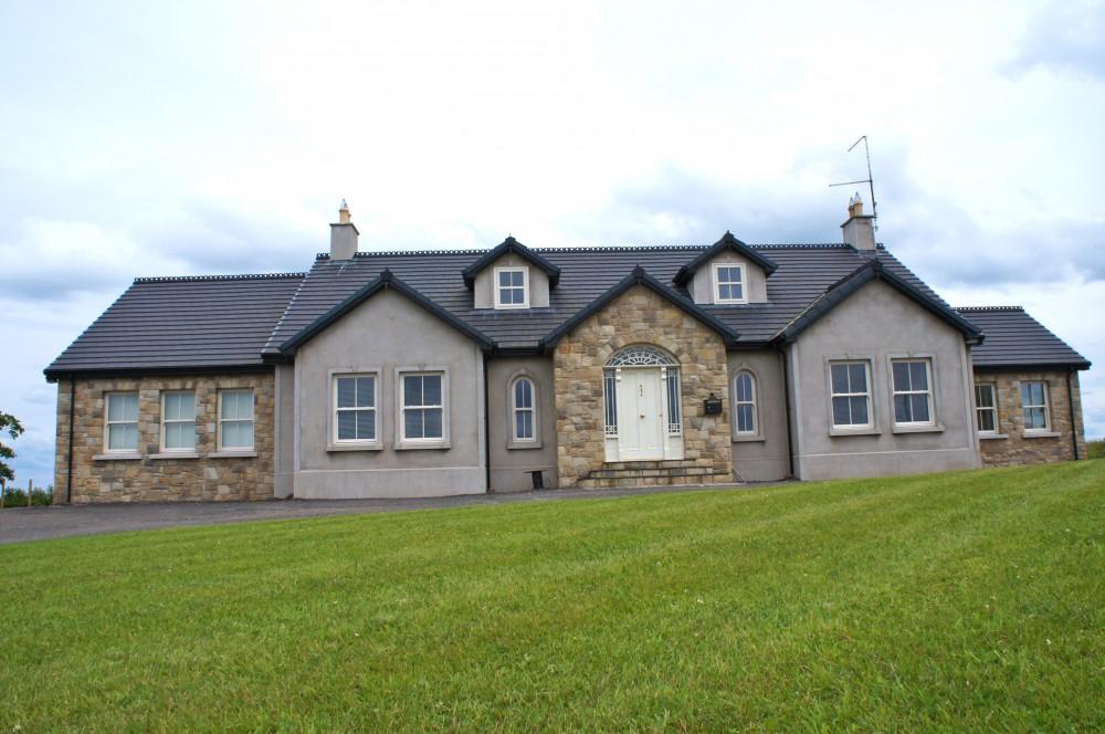 House Built with 70% Omagh Sandstone, 20% Donegal Sandstone & 10% Blue Centre Sandstone