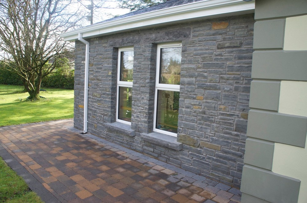 Liscannor stone with rock faced cills and lintels