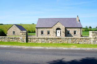 70% Donegal Sandstone, 20& Omagh Sandstone & 10% Blue Centre Sandstone