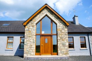 60% Donegal Sandstone, 20% Omagh, 10% Blue Centre Sandstone & 10% Green Sandstone