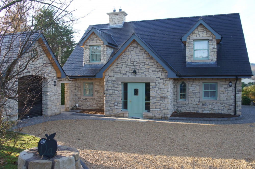 Tumbled Donegal Sandstone with small percentage or Tipperary brown stone