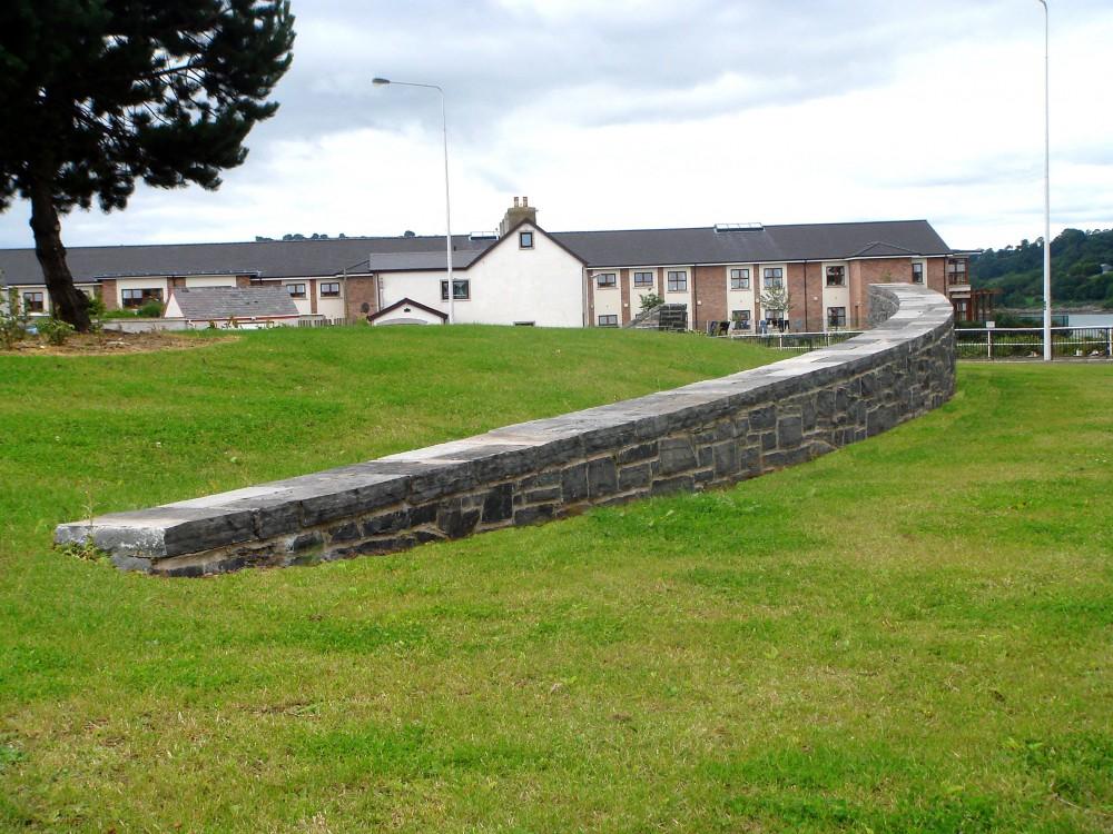 Longford Limestone wall & coping
