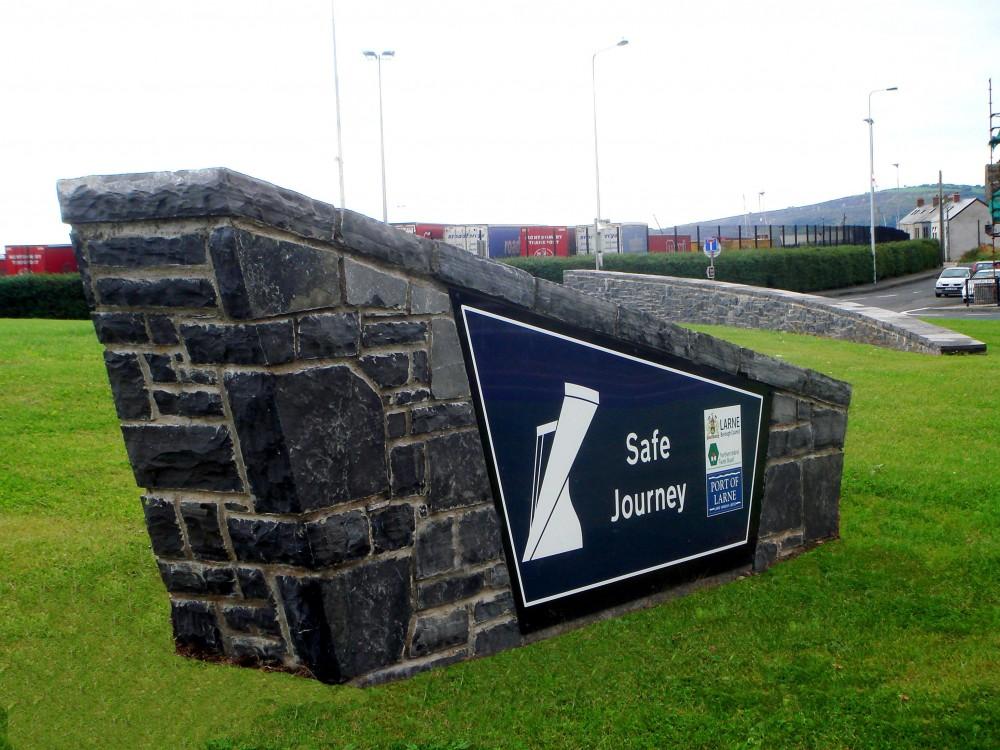 Longford Limestone welcome plaque