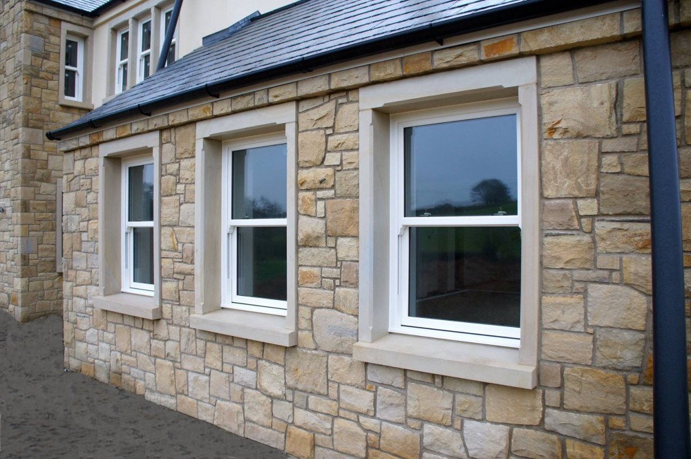 Donegal sandstone window surrounds