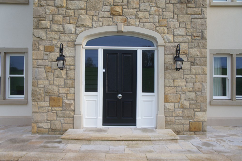9 piece Donegal sandstone door surround