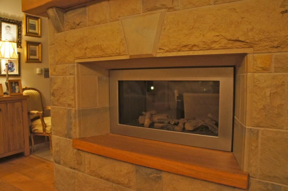 Polished sandstone sides and draft margin