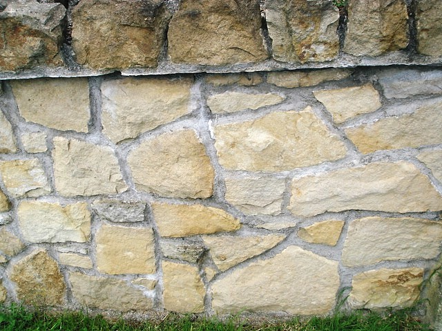Donegal sandstone wall