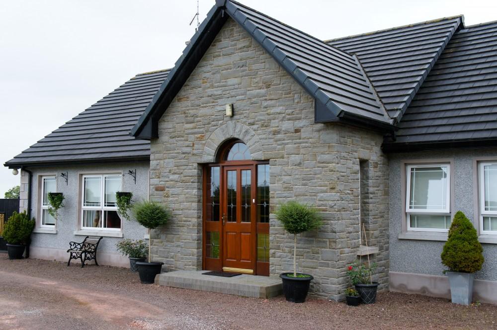 Portlaoise sandstone porch