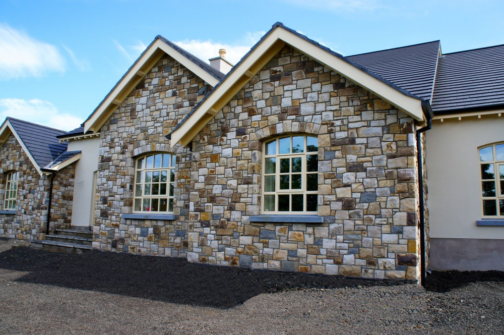 Multi coloured Leitrim sandstone