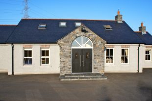 Donegal Slate- Free Standing Arch On Front Door