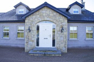 Donegal Sandstone With 10% Leitrim Sandstone. Free Standing Arch On Front Door