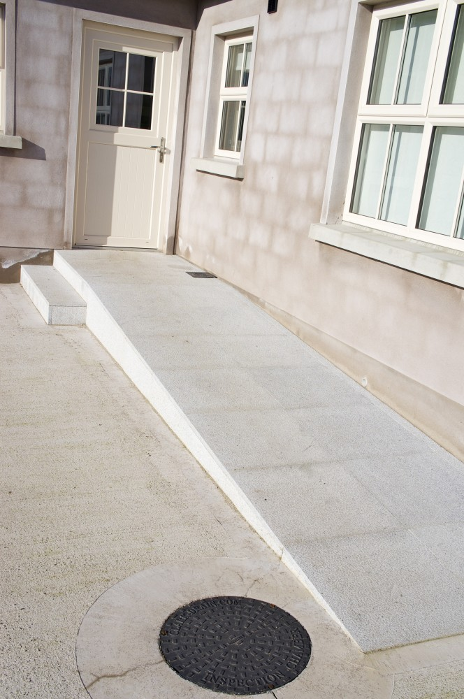 Grey granite disable access ramp