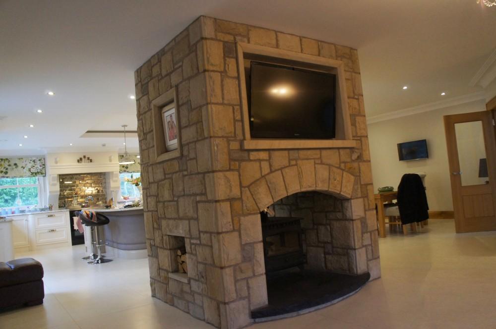 Sandstone surround for TV