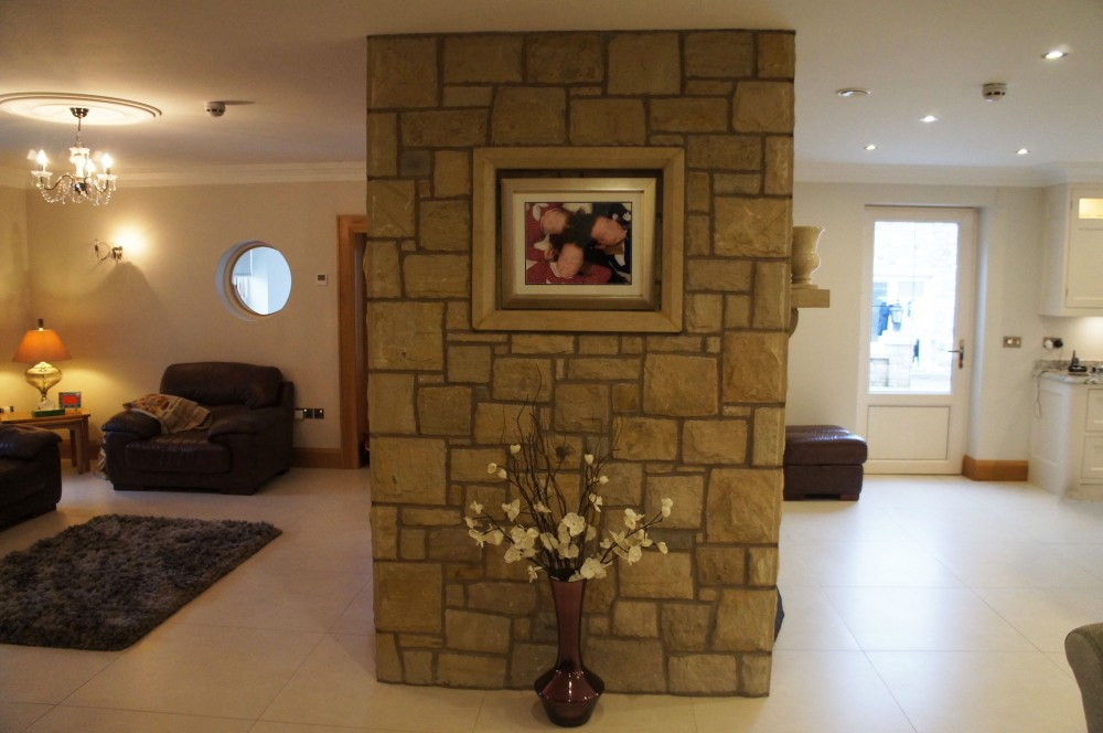 Donegal sandstone surround for picture frames
