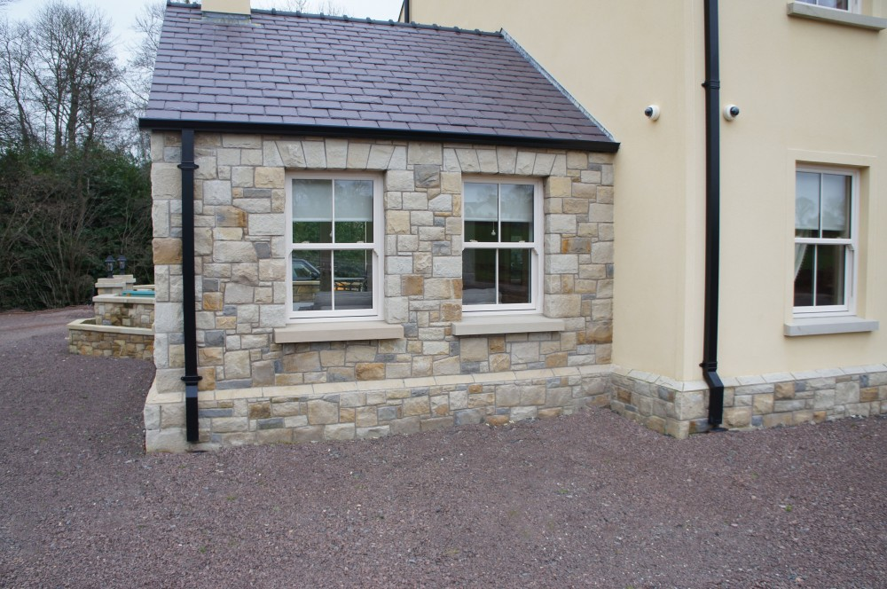 Donegal sandstone window cills and free standing flat arches