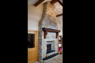 Donegal Sandstone With Stepped Black Limestone Hearth